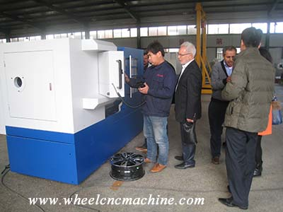 Customer from Iran ordered wheel cnc lathe machine