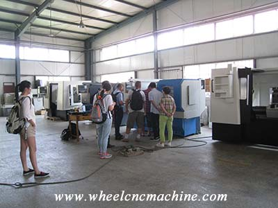 Customer from Malaysia purchasing wheel lathe machine