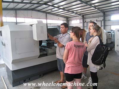 Our partner from New Zealand studied how to operate alloy wheel cnc machine