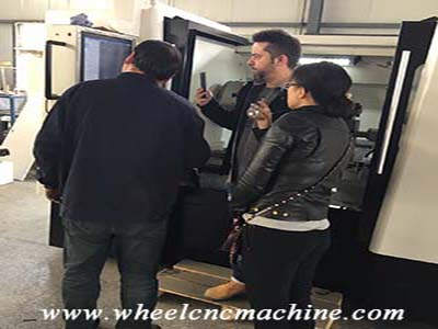 Wheel CNC Machine factory trainning for French Customer