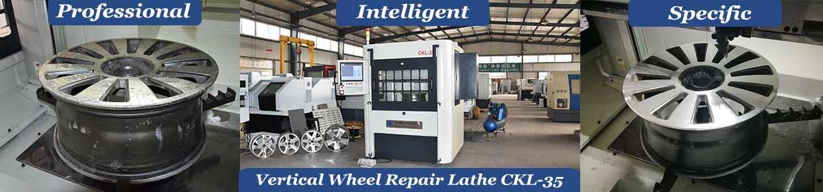 High Efficiency Vertical CNC Wheel Repair Lathe CKL-35 for sale